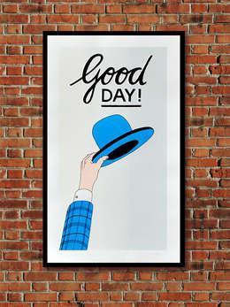 Good Day!: minimalistische Woonkamer door Lennart Wolfert - Graphic Artist