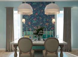 Столовая зона: Столовые комнаты в . Автор – tatarintsevadesign