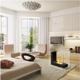 Biolareira Madrid: Sala de estar  por Clearfire - Lareiras Etanol