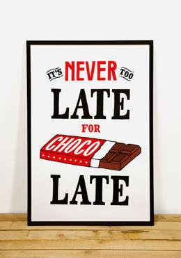 It's Never Too Late For Chocolate:  Kunst  door Lennart Wolfert - Graphic Artist