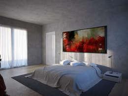 L. A. Confidential : Camera da letto in stile in stile Minimalista di Memento Architects