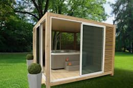 Spa in stile in stile Moderno di EXTAZE OUTDOOR