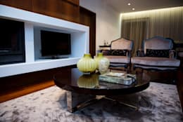 Projekty,  Salon zaprojektowane przez PAULA NOVAIS ARQUITECTOS E DESIGN