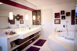 Banho suíte casal: Banheiros modernos por INOVA Arquitetura