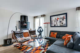 Levallois 110m2: Salon de style de style Moderne par blackStones