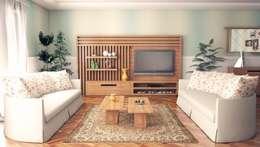 غرفة المعيشة تنفيذ Sonmez Mobilya Avantgarde Boutique Modoko
