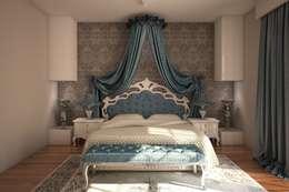 Sonmez Mobilya Avantgarde Boutique Modoko – Vezir Yatak / Mavi: klasik tarz tarz Yatak Odası