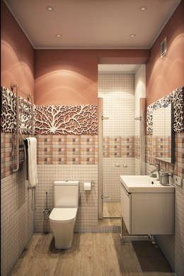 Calm,cute and colorful: Ванные комнаты в . Автор – Marina Sarkisyan