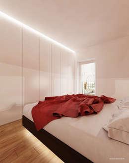 Projekt sypialni w drewnie: styl , w kategorii Sypialnia zaprojektowany przez Ale design Grzegorz Grzywacz
