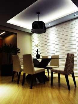 apartamento N+R: Salas de jantar ecléticas por SPOT161 arquitetura + design