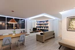 Projekty,  Salon zaprojektowane przez Raphael Civille Arquitetura