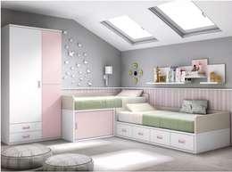 Dormitorios infantiles  de estilo  por MUEBLES DUERO