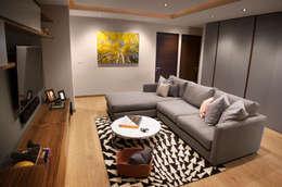 Salas multimedia de estilo moderno por Concepto Taller de Arquitectura