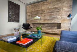 Departamento DG: Salas de estilo moderno por Concepto Taller de Arquitectura