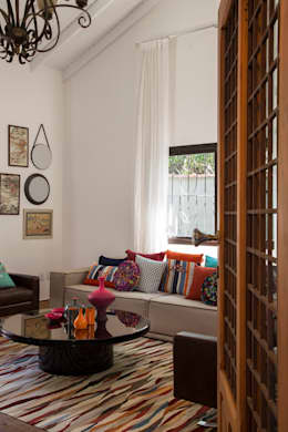 Livings de estilo topical por Marcos Contrera Arquitetura & Interiores