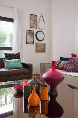Projekty,  Salon zaprojektowane przez Marcos Contrera Arquitetura & Interiores