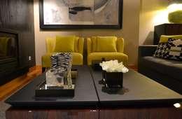Salas de estar modernas por PAULA NOVAIS ARQUITECTOS E DESIGN
