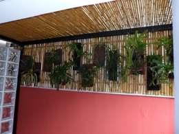 Jardines de invierno de estilo rústico por Bambu Rei Eco-Design