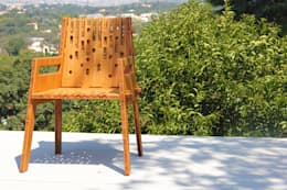Silla Beat de Bambú que se arma en menos de 1 minuto: Jardín de estilo  por Wedgewood Furniture