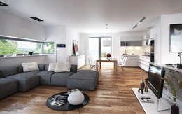 Salas de estar minimalistas por SMAG design