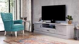 Berke Mobilya – Grey Tv Sehpası: klasik tarz tarz Oturma Odası