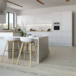 Manhattan gloss kitchen in white: modern Kitchen by Kitchen Stori