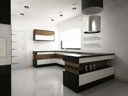 Apartament pokazowy PERŁA KSIĘCIA KIEJSTUTA.: styl , w kategorii Kuchnia zaprojektowany przez CAROLINE'S DESIGN