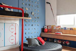 Quarto Hockey: Quarto infantil  por Oba! Arquitetura