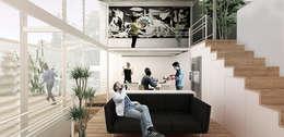 Interior: Pasillos y recibidores de estilo  por Colectivo Ruta Alterna