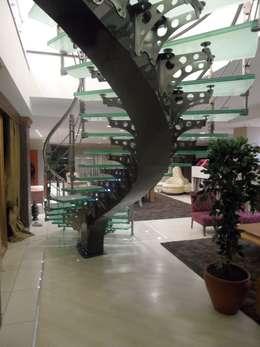 Visal Merdiven – Aydın Tekstil - İstanbul: modern tarz Koridor, Hol & Merdivenler
