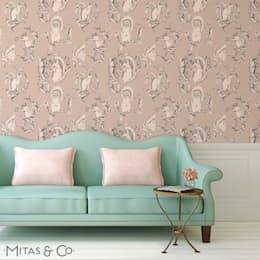 Walls & flooring تنفيذ Mitas & Co. Wallpapers & Textiles