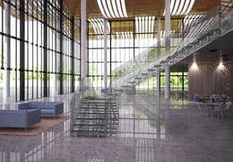 minimalistische Gang, hal & trappenhuis door IAM Design