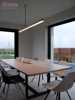modern Dining room by kabeDesign kasia białobłocka