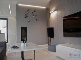 SALON: styl , w kategorii Salon zaprojektowany przez kabeDesign kasia białobłocka
