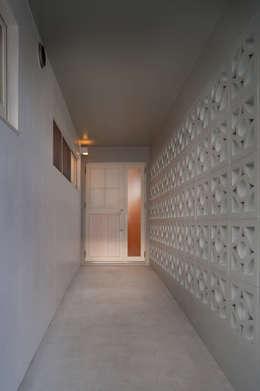 長閑の家: プラソ建築設計事務所が手掛けた廊下 & 玄関です。