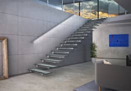 Glasstree Wall: Ingresso, Corridoio & Scale in stile in stile Minimalista di IAM Design