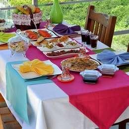 Dekorluk – dekorluk masa örtüleri: eklektik tarz tarz Yemek Odası