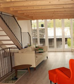 غرفة المعيشة تنفيذ Architettura & Urbanistica Architetto Dario Benetti