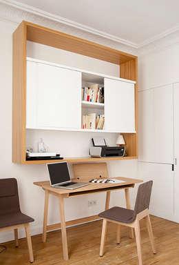 Haussmanien et Design : Bureau de style de style Minimaliste par ATELIER FB