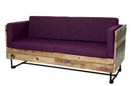 YON: Salas de estilo industrial por Mecate Studio