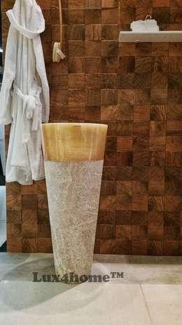 Stojąca umywalka z onyksu: styl , w kategorii Łazienka zaprojektowany przez Lux4home™