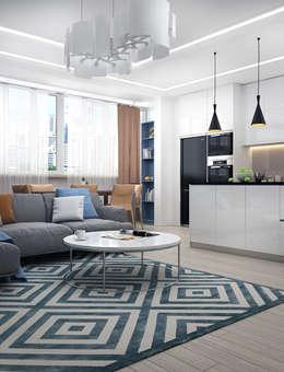 Квартира-студия в Симферополе: Гостиная в . Автор – VITTA-GROUP