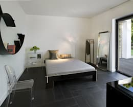 Łęka - Park: styl , w kategorii Sypialnia zaprojektowany przez Architekci Łosiak_Siwiak