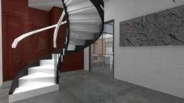 Pasillos y hall de entrada de estilo  por Atelier SCENARIO