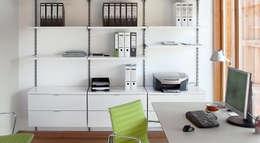 Arbeitszimmer - Büroregale Regalsystem ON-WALL: moderne Arbeitszimmer von Regalraum GmbH
