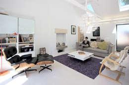 Livings de estilo escandinavo por NRAP Architects