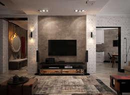 Salas de estilo industrial por Reroom