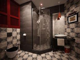 NY loft: Ванные комнаты в . Автор – Reroom