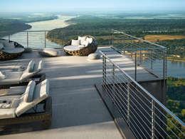 IAM Design: minimal tarz tarz Balkon, Veranda & Teras
