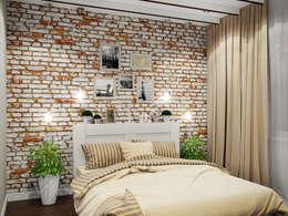 Студия дизайна интерьера Маши Марченко: endüstriyel tarz tarz Yatak Odası